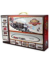 TIMELY RC Toy Train & Track Set with 4 Cars + 4 Realistic Train Sounds + Smoke + Headlight for Kids 3+ Years