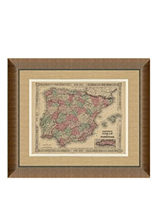 Johnson and Ward Antique (1860's) Map of Spain & Portugal, 24