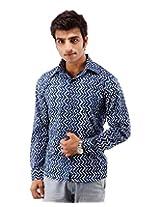 Albelishop Men's Button Front Shirt (FI009_XXL, Multi-Colour, XXL)