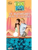 Paper Magic Teen Beach Deluxe Valentines Exchange Cards with bonus Stickers (34 Count)