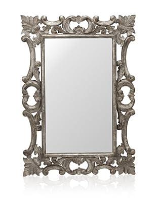 Cooper Classics Rebecca Mirror, Silver Crackle