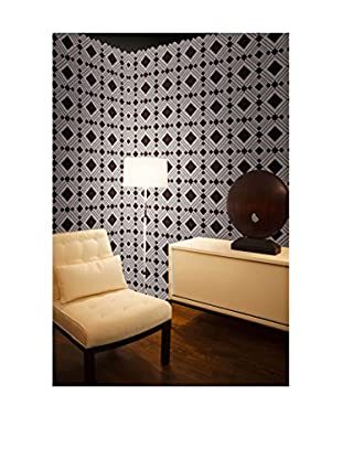 Tempaper Designs Diamond Self-Adhesive Temporary Wallpaper, Chocolate, 20.5