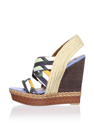 Boutique 9 Women's Isabella Sandal (Blue Multi)