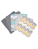 Trend Lab Zigzag Bouquet 5 Piece Wash Cloth Set