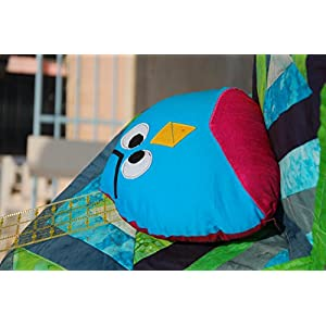 Angry Bird Shaped Cushion