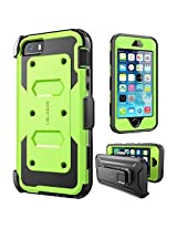 iPhone SE Case, [Armorbox] i-Blason built in [Screen Protector] [Full body] [Heavy Duty Protection ]/Holster/Bumper Case for Apple iPhone SE 2016 Release/Compatible with iPhone 5S/5 (Green)