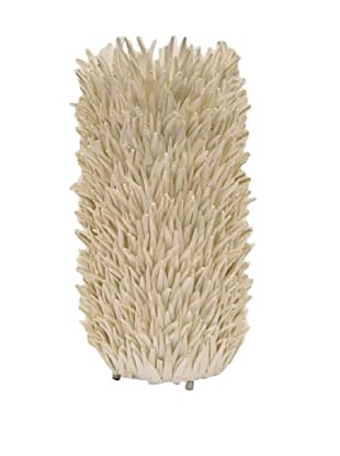 Palecek White Coco Feather Lamp