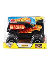 Hot Wheels Monster Jam Inferno Die-Cast Vehicle, 1:24 Scale