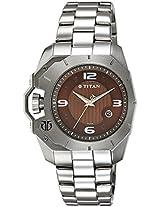 Titan Purple Analog Brown Dial Men's Watch - 1605SM02