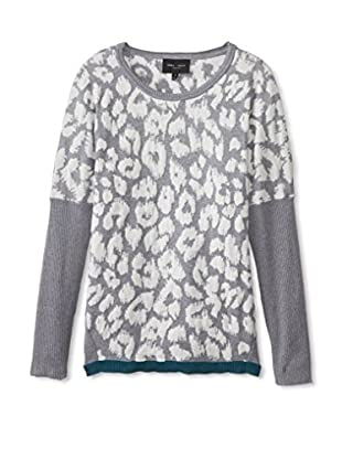 Romeo & Juliet Couture Women's Contrast Trim Sweater