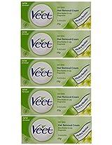 Veet Hair Removal Cream for Dry Skin - 25 g (Pack of 5)