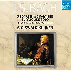 CD シギスヴァルト・クイケン独奏 バッハ:無伴奏ヴァイオリン・ソナタ&パルティータの商品写真