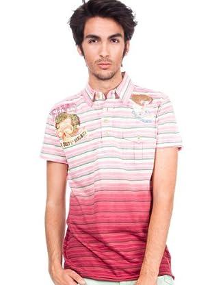 Custo Barcelona Pocket Pypah Pink 2295822 Herren Shirts/Poloshirts (Rosa)