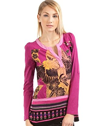Custo Camiseta Adina Bruce (Negro / Blanco / Amarillo)