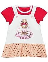 Infant girls dungaree set, Multi Colour (12-18 Months)
