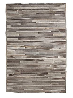 Solo Rugs Natural Cowhide Rug, Charcoal, 6' 1
