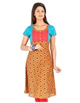 Estyle Women's Kurta (Russet Orange_X-Small_1005-01XS_)