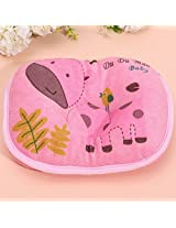 Cute Deer Soft Infant Toddler Baby Pillow Anti Migraine Bedding Head Shape Support Cotton Cushion (Pink)