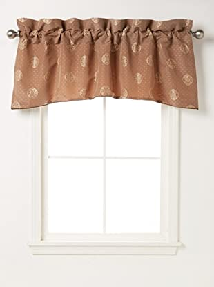 Waterford Linens Callum Scalloped Valance, Spice, 55