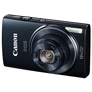 Canon IXUS 155 20MP Point and Shoot Camera (Black) with 10x Optical Zoom Camera Case
