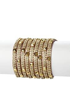 Presh 3-Strand Studded Multi-Wrap Bracelet, Berry Shimmer