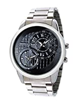 Exotica Analog Black Dial Men's Watch (EF-50-Dual-ST-B)