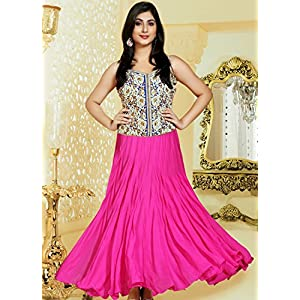 Embroidered Georgette Anarkali Suit With Duppatta