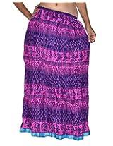 Famacart Women Long Skirt Blue
