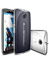 Nexus 6 Case, Ringke FUSION [Dust Cap/Drop Protection][CLEAR] Shock Absorption Bumper [Free HD Screen Protector] Premium Hard Case for Google Motorola Nexus 6