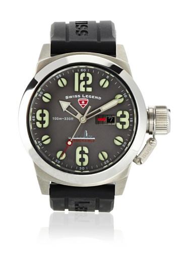 Swiss Legend Men's Submersible Black/Grey Silicone Watch