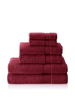 Espalma 6-Piece Signature Bath Towel Set, Berry