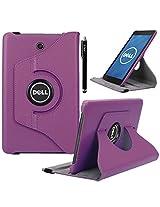 Dell Venue 8 Case, E LV Dell Venue 8 Case Cover 360 rotating Lightweight case for Venue 8 Tablet (Android Tablet) (will only fit Dell Venue 8 tablet) - PURPLE