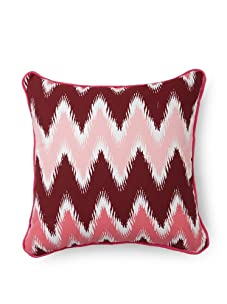 Room Service Chevron Pillow (Pink/White)