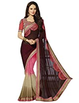 KVS FAB Multicolor Georgette Jacquard Saree