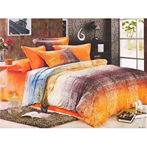 Homefab New Designer Double Bed-Sheet With 2 Pillow Covers (Kitkat 012)