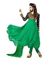 s3008_Fancy Frock Style Designer Green Anarkali Suit