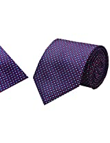 Navaksha Mulicolor Micro Fiber Tie with Pocket Square