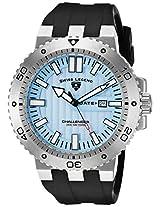 Swiss Legend Men's 10126-012 Challenger Light Blue Textured Dial Black Silicone Watch