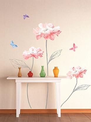 Ambiance Sticker Wandtattoo Light Flowers And Butterflies