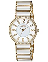 Aspen Ceramic Analog White Dial Women's Watch - AP1630