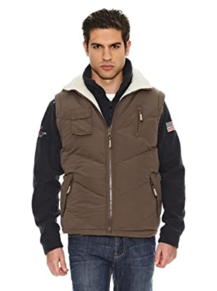 Geographical Norway Chaleco Vagon New (Kaki / Beige)