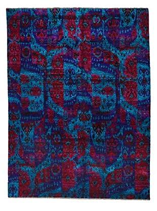 Darya Rugs Silk Oriental Rug, Blue, 7' 10