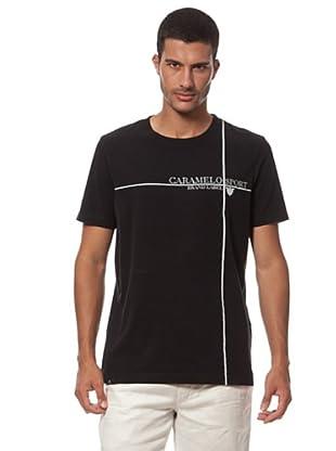Caramelo Camiseta Estampada Logo Manga Corta (negro)