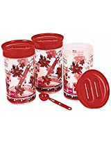 Cello Festive-E Container Set, 1 Litre, 3-Pieces, Brown