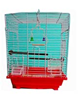 Pet Club51 HIGH QUALITY STYLISH METAL CAGE FOR RED AND WHITE -MEDIUM
