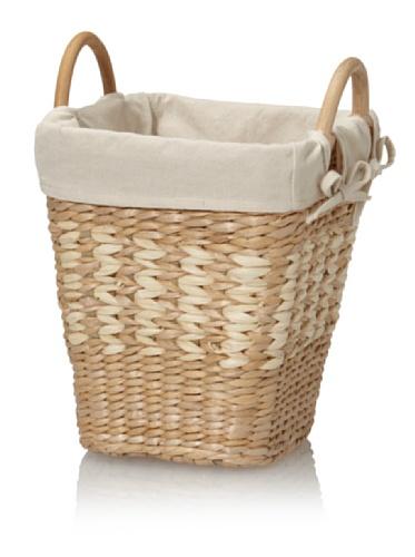 Creative Bath Lined Waste Basket (Natural/Bleach)