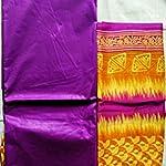 Purple Cotton Dress Material