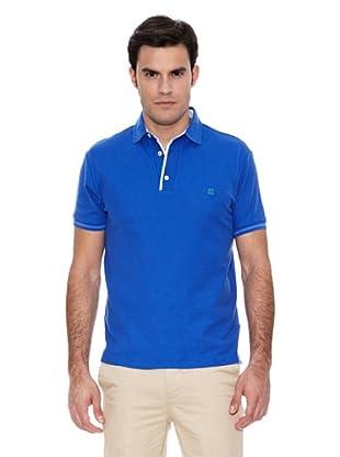 Pedro del Hierro Polo Detalle Vichy (Azul)