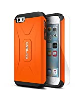 iPhone SE Case, OBLIQ [Xtreme Pro][Heavy Duty][Orange] w/ HD Screen Protector - Premium Slim Fit Dual Layered Hard Tough Protection Case for Apple iPhone SE [Compatible with the iPhone 5S/5]