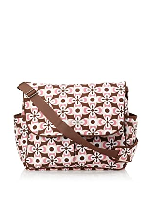 The Bumble Collection Michelle Messenger Bag (Graphic Geo Flower)